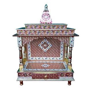 Meenakari Multicolor Home Puja Mandir Hindu Temple Mandapam Altar