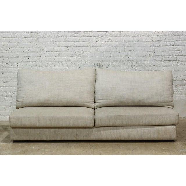 Image of Linen Upholstered Sofa
