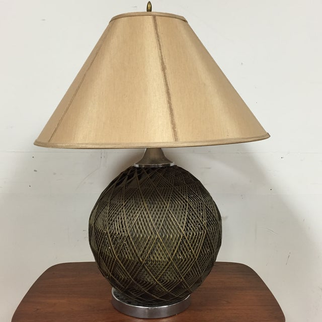 Optic Woven Cane Table Lamp - Image 2 of 11