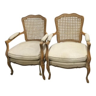 French Caned Chairs - A Pair