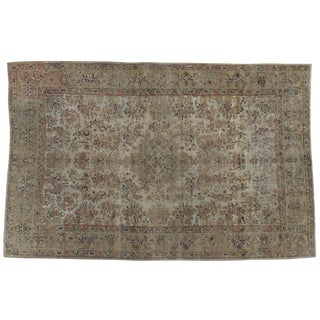 "Antique Persian Kerman Distressed Rug - 5'9"" X 9'1"""