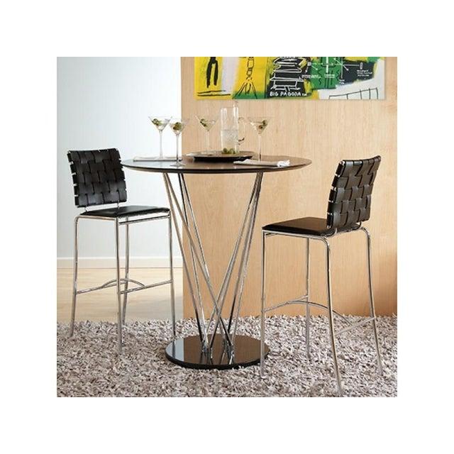 Image of Eurostyle Carina Leather Bar Stools- APair