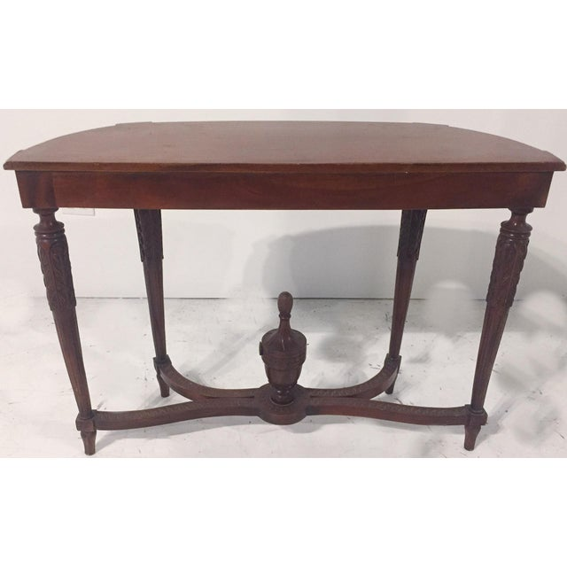 Antique Mahogany Demi-lune Table - Image 6 of 9