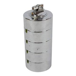 Stacking Chrome Ashtrays & Lighter - Set of 4