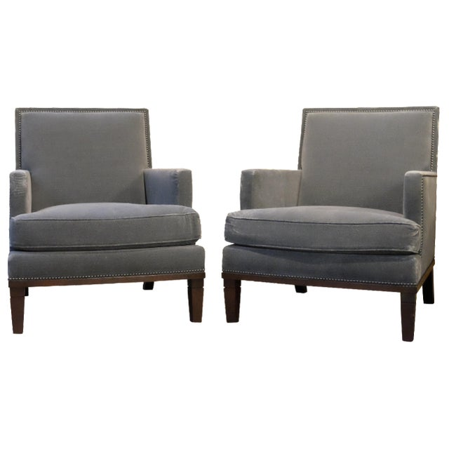Contemporary Custom Club Chairs - A Pair - Image 1 of 7