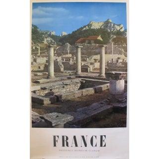 1950s Travel Poster, Provence Ruines de Glanum
