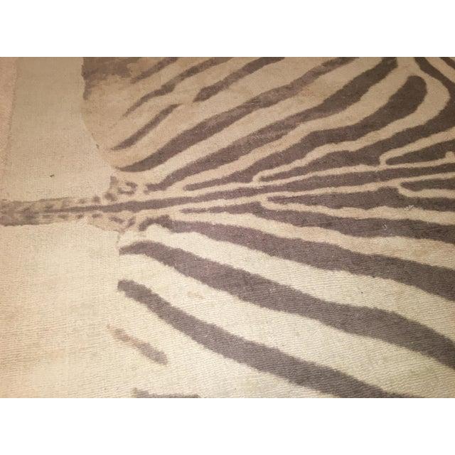 """Printed Zebra Rug - 5"""" X 8"""""""
