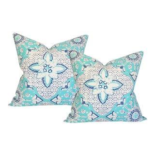 Batik Blue Pillow Covers - A Pair