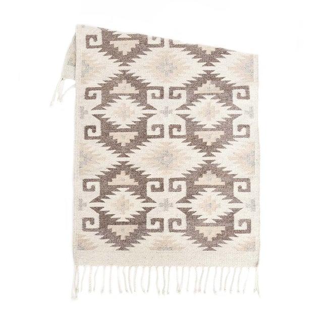 Neutral Handwoven Oaxaca Wool Rug - 2′ × 3′ - Image 1 of 3