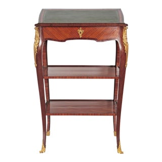 Louis XV Style Small Writing Desk / Table by Alfred Emmanuel Louis Beurdley