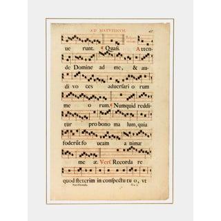Antique Sheet Music, C. 1700