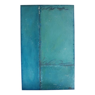 Aqua & Blue Mixed Media Oil and Pastel on Panel 2017