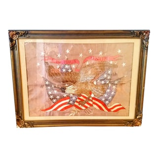 World War I Embroidered Souvenir American Eagle Flag