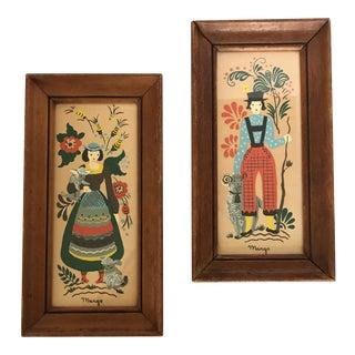 Margo Alexander Provincial Dutch Couple Prints - A Pair