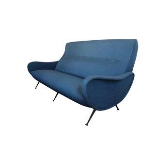 Marco Zanuso Mid-Century Italian Blue Lady Sofa