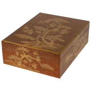 Japanese Large Nashiji lacquer box Meiji Period, circa 1890