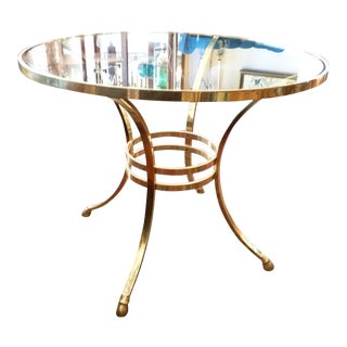 Hoofed Brass & Glass Round Dining Table