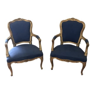 French Louis XV Armchairs - A Pair