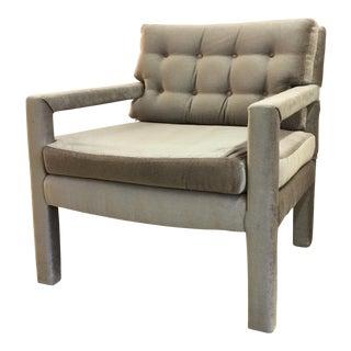 Milo Baughman Style Parsons Lounge Chair