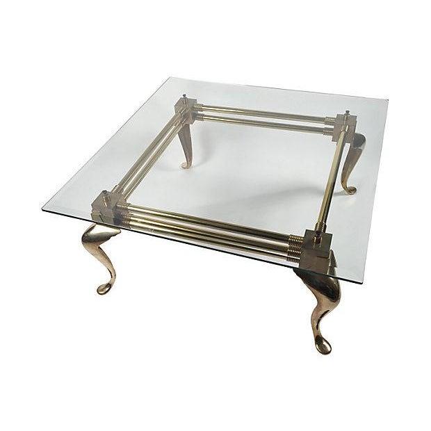 Coffee Table Square Legs: Square Brass Cabriole-Leg Coffee Table