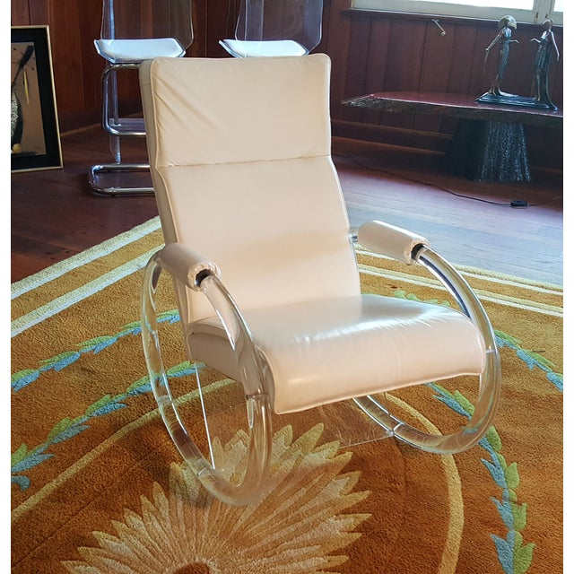 Charles Hollis Jones Vintage Lucite Rocking Chair - Image 2 of 8