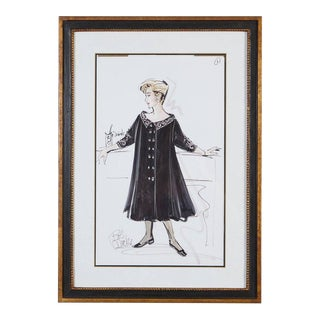 Signed Bob Mackie Fashion Drawing #1 for Rosemary Clooney from the Estate of RC