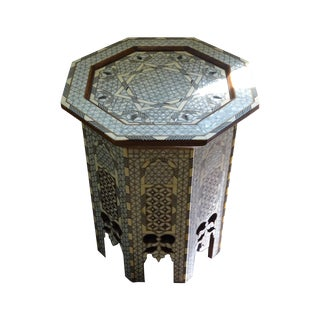 Syrian Mother of Pearl Inlay Side Table