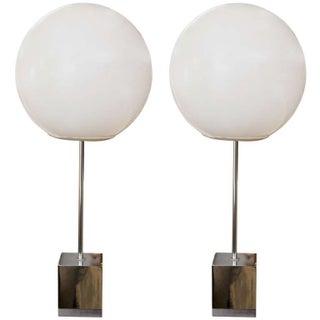1960's Globe Lamp Pair by Robert Sonneman