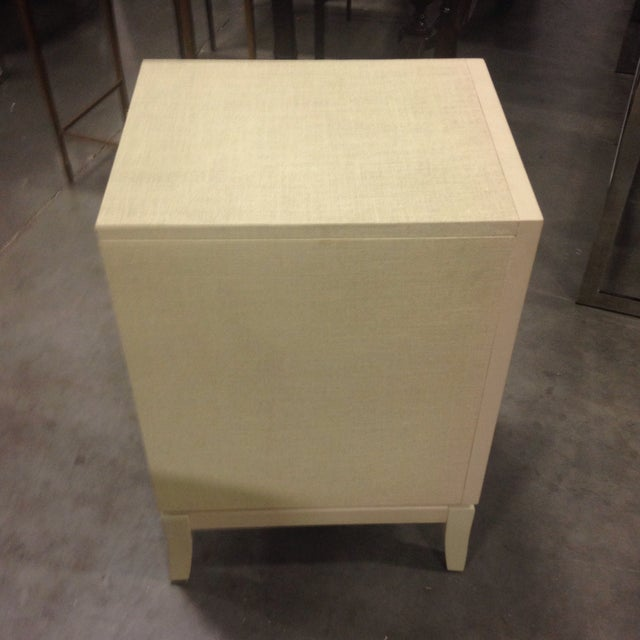 Image of Bassett Taupe Wooden Side Table Chest