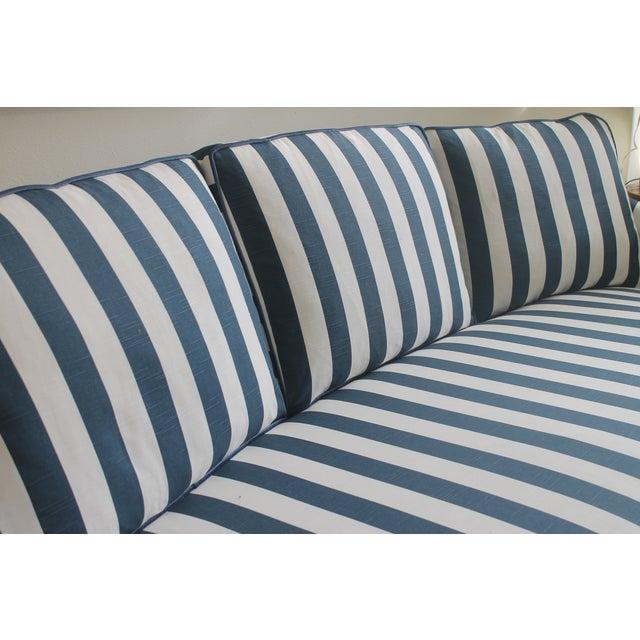 Lillian August Navy White Stripe Sofa - Image 6 of 6