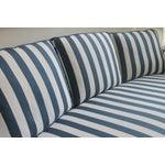 Image of Lillian August Navy White Stripe Sofa