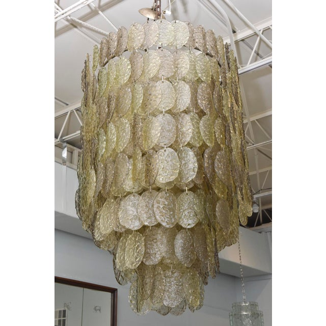 Monumental Italian Modern Amber Glass Chandelier by Mazzega - Image 2 of 10