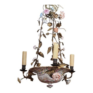 Early 20th Century French Porcelain Chandelier
