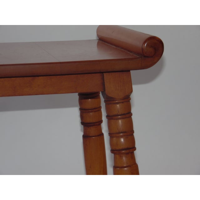 Mid- Century Wood Light Brown Color Bench - Image 4 of 11