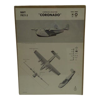 """WWII """"Consolidated Coronado"""" Aircraft Recognition Poster"""