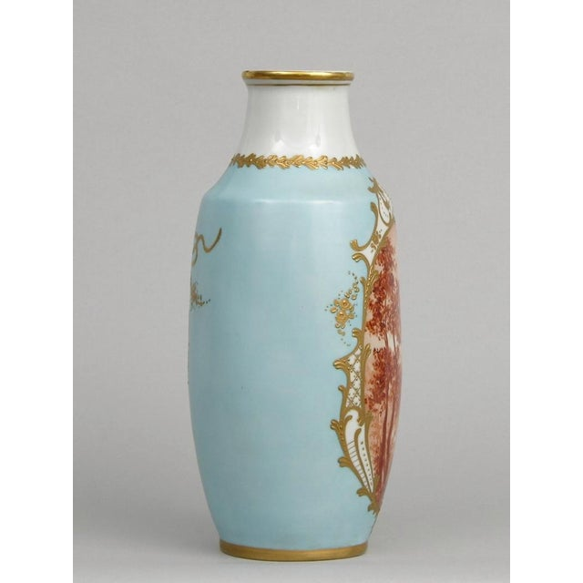 Image of French Antique Porcelain Toile Vase