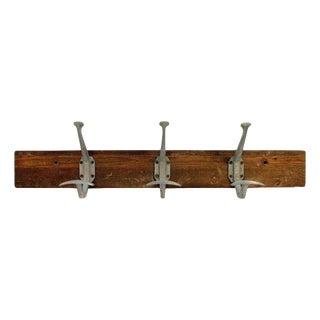 3-Hook Aluminum Wooden Rack