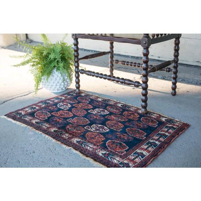 "Antique Perisan Mat Small Rug - 2'x3'2"" - Image 3 of 5"
