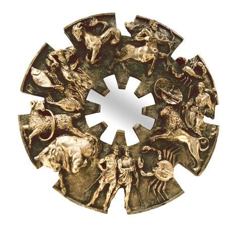 Image of 1970s Brutalist Style Zodiac Mirror