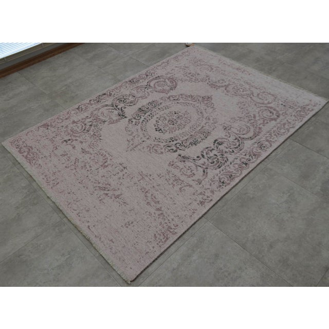 Purple Overdyed Turkish Rug - 3′11″ X 5′11″ - Image 4 of 9