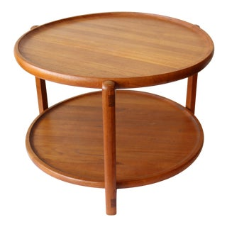Mid-Century Danish TeakTray Top Side Table