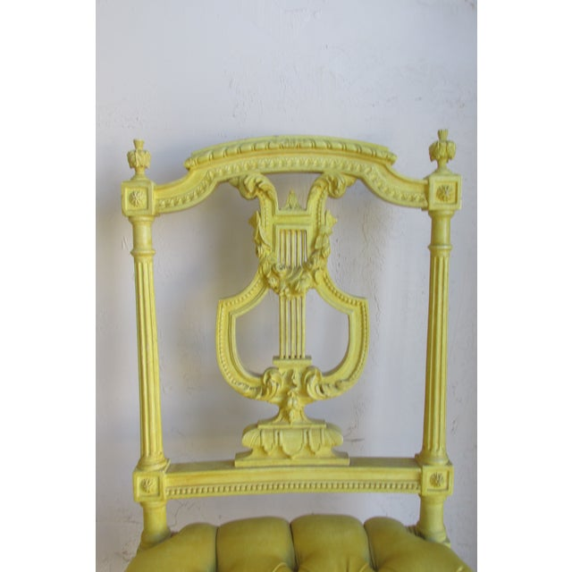 Image of Ornate Yellow Chairs - Pair