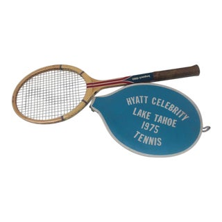 Vintage Spaulding Tennis Racquet With Vinyl Cover