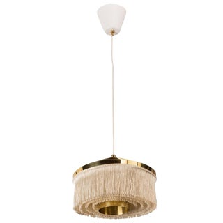 Brass and Silk Cord Pendant by Hans Agne Jakobsson