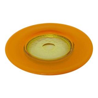 Italian Glass Catchall Plate