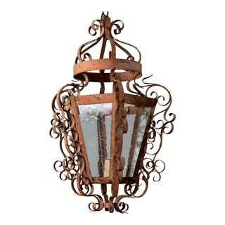 Circa 1900 French Iron Lantern