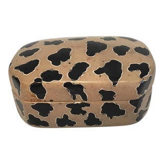 Soap Stone Box with Animal Pattern