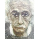 Image of Albert Einstein Original Graphite Sketch