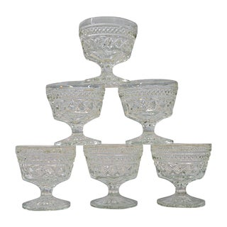 Tilled Glass Sherbet Cups - Set 6