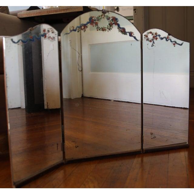 Antique Tri Fold Vintage Vanity Mirror Chairish